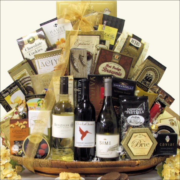 CALIFORNIA COASTAL VALLEY COLLECTION: WINE GIFT BASKET
